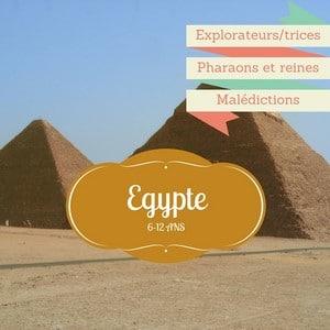 Pour un anniversaire egyptien: pharaons, ors et amulettes