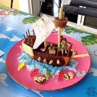 gateau anniversaire pirate