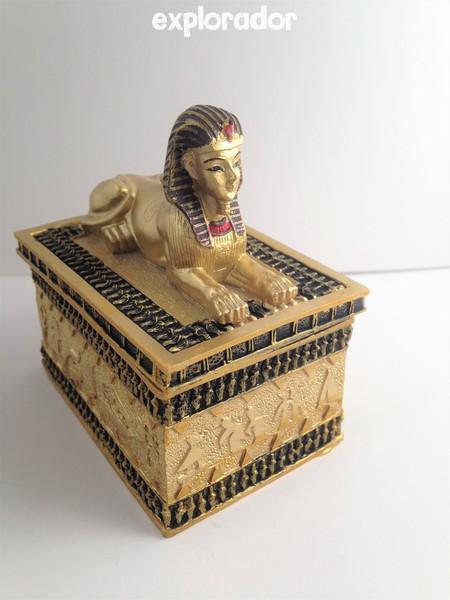 Sphynx coffre au tr sor egypte dor bo te avec statue gyptienne - Coffre chasse au tresor ...
