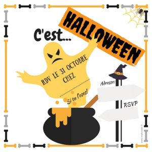 invitation gratuite halloween fantome
