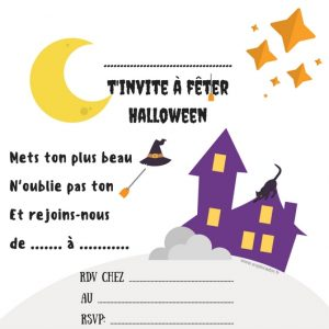 invitation gratuite halloween sorciere