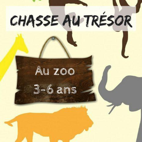 chasse au tresor enfant zoo