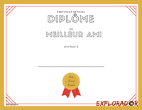 imprimer diplome best friend