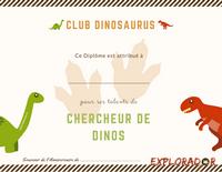 imprimer diplome dinosaure