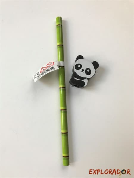 crayon gomme panda
