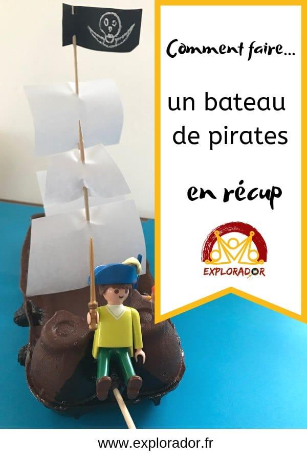 fabriquer bateau pirates facile