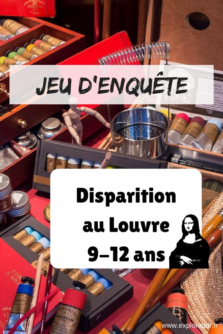 Jeu Denquête Disparition Au Louvre Niveau Difficile 9 12 Ans Et