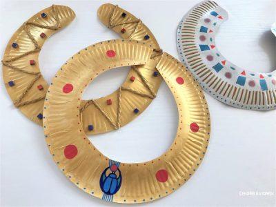 activite manuelle parure egypte ancienne fabrquer