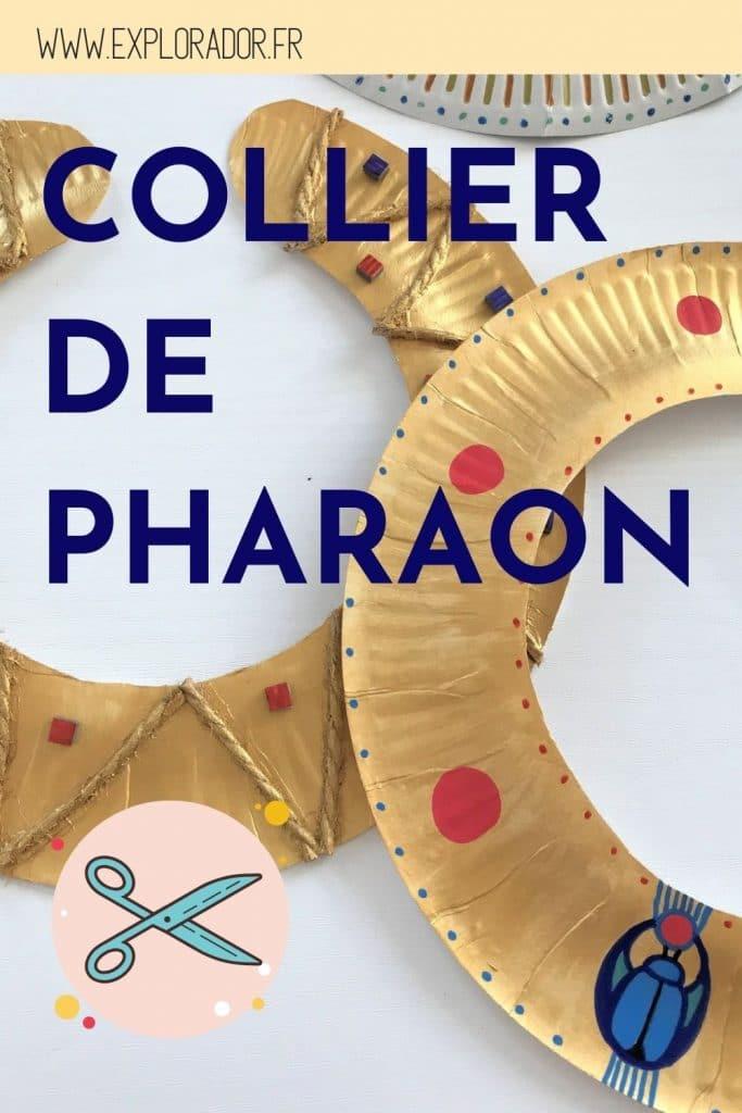 collier pharaon assiette carton