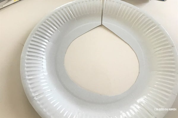 decoupe assiette carton pour fabriquer collier pharaon