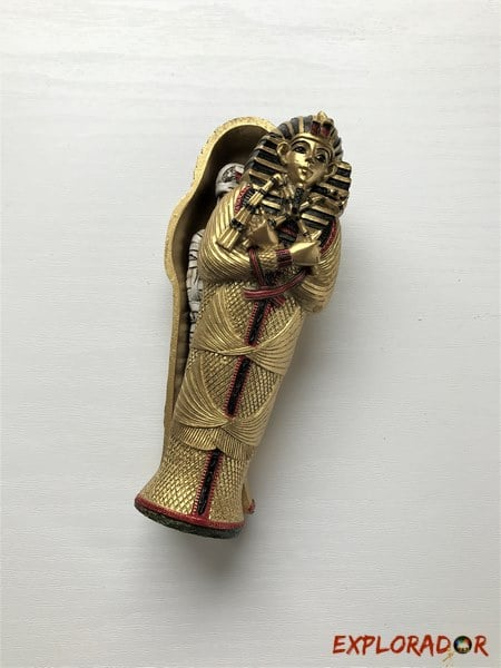 chasse au tresor egypte sarcophage dore