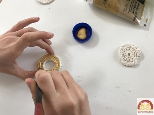 decorer pendentif maya aztec gold