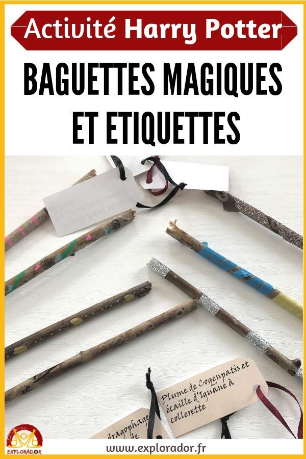 fabriquer baguettes imprimer etiquettes