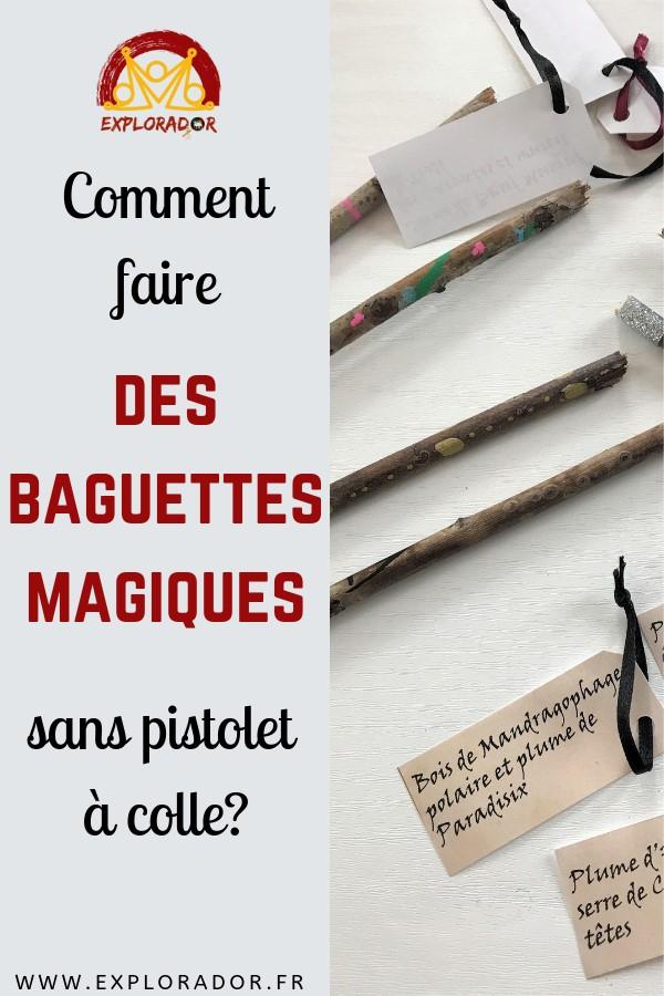 fabriquer baguettes magiques sans pistolet colle