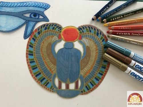 imprimer modele pendentif egyptien plastique fou
