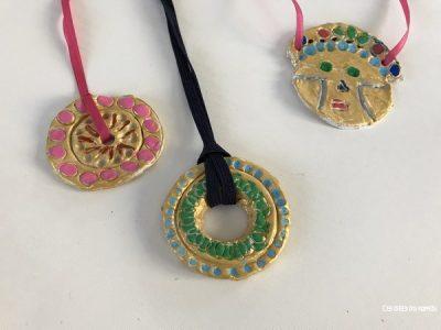 pendentifs mayas azteques faciles avec enfants
