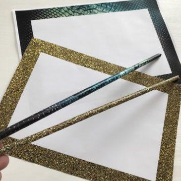 fond pour baguette magique en papier