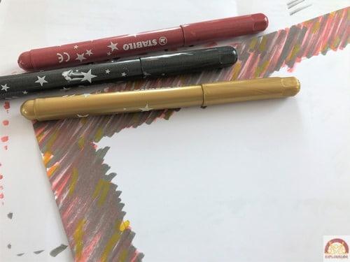 colorier baguette magique papier