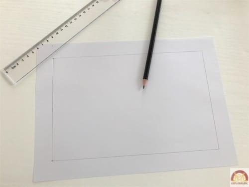 creer cadre baguette magique papier