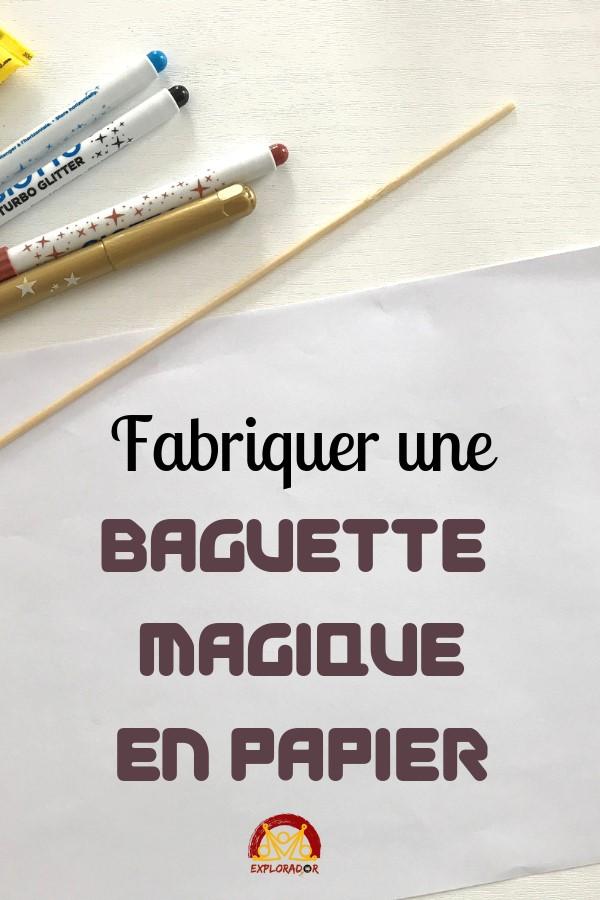 fabriquer facilement baguette magique papier
