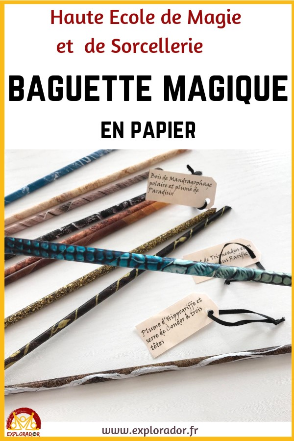 faire baguette magique papier harry potter