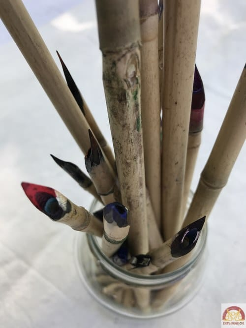 calame en bambou