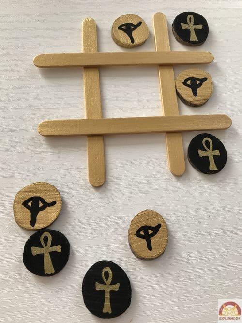 activite egypte jeu morpion