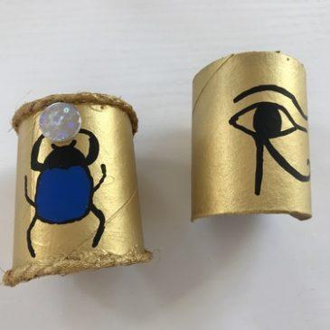 activite egypte rouleau papier toilette bracelets