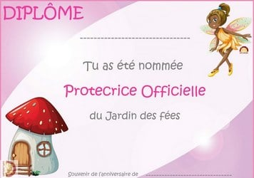 diplome anniversaire fille