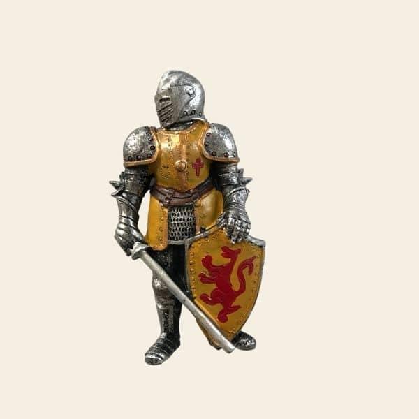 magnet chevalier armure jaune