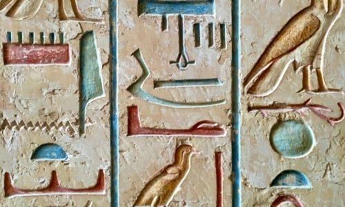 hieroglyphes couleur